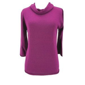 Eileen Fisher Pink Purple Cowl Neck Blouse Small